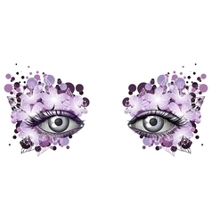 Look of the spring photorealistic eye artistic vector image