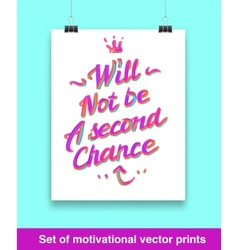 Motivation quote mock up vector