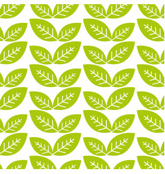 natural green leaves background vector image vector image