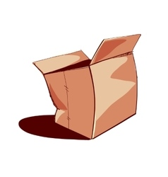Opened paper box vector