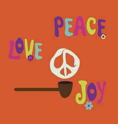 Pipe of peace vector