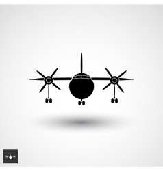 Plane logo icon vector
