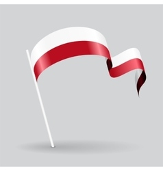 Polish wavy flag vector image vector image