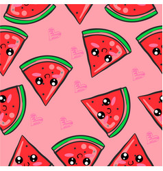 Red fruit cute of doodles vector