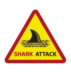 Shark on waves vector