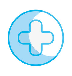 Silhouette cross clinic symbol to healthcare vector