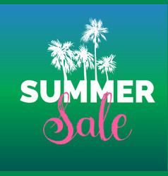 Summer sale lettering background season vector