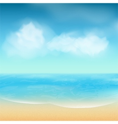 summer sea and sand background vector image vector image