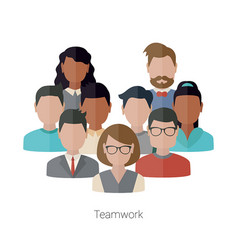 teamwork concept with people teamwork concept vector image