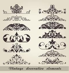 vintage decorative elements vector image vector image