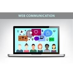 Web communication social net vector