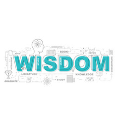Wisdom icons for education graphic design vector