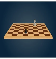 Wood chessboard vector