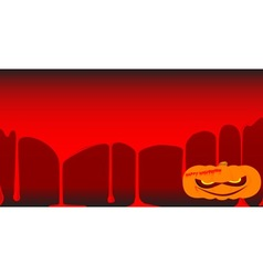 Blood pumpkin vector