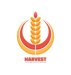 Harvest logo concept sign vector