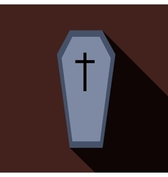 Coffin icon flat style vector