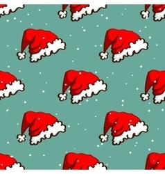 Santas Hat Seamless Pattern vector image