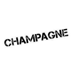 Champagne rubber stamp vector