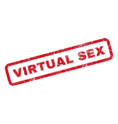 Virtual sex rubber stamp vector