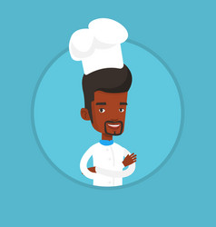 Confident male chief cooker with arms crossed vector