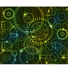 Mechanical background vector