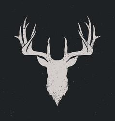 deer head silhouette invert vector image