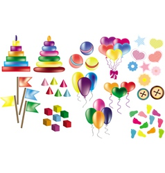 Set of childrens party elements vector