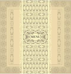 Vintage design menu vector image