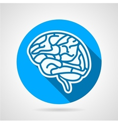 Round icon for brain vector
