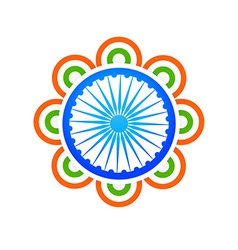 Indian flag design concept vector