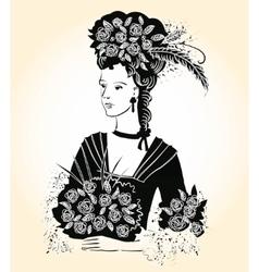 Black Elegant Lady vector image