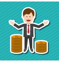 Profit and money design vector