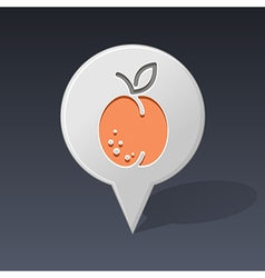 Apricot pin map icon fruit vector