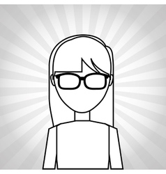 Female avatar design vector