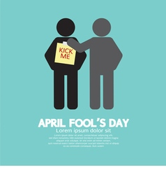 April fool day concept symbol vector