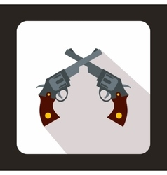Revolvers icon flat style vector