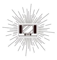 Retro tv poster isolated icon design vector