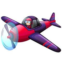 A colourful vintage plane vector