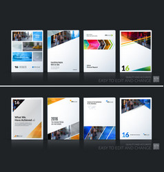 abstract business template brochure layout vector image vector image