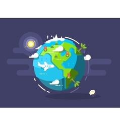 Aircraft flying around the world vector image vector image