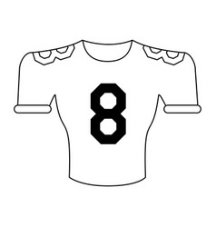 american football shirt vector image