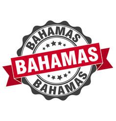 Bahamas round ribbon seal vector