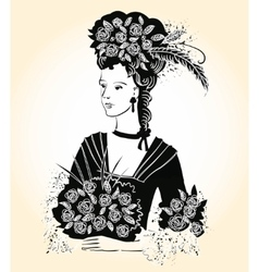 Black Elegant Lady vector image vector image