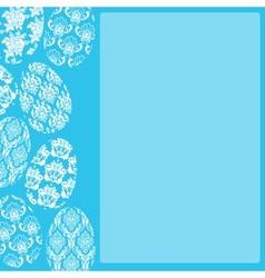 Blue Easter Frame vector image vector image
