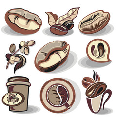 coffee symbols vector image