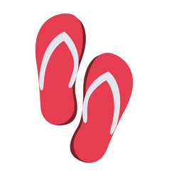 Color silhouette of beach flip-flops vector