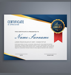 Creative certificate of appreciation award vector