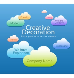 Creative decoration vector