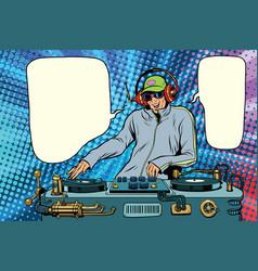 Dj boy party mix music vector