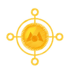 Drawing mastercoin currency icon vector